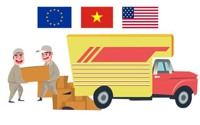 Vận chuyển hàng hóa từ Việt Nam đến Châu Âu và Hoa Kỳ