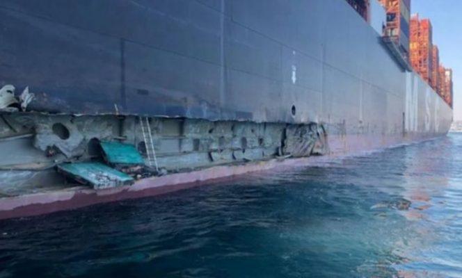 Tàu MSC va chạm với cầu tàu Thổ Nhĩ Kỳ