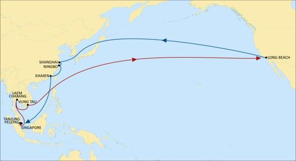 MSC hỗ trợ giao thương giữa Đông Nam Á và Bờ Tây Hoa Kỳ với tuyến mới Sentosa