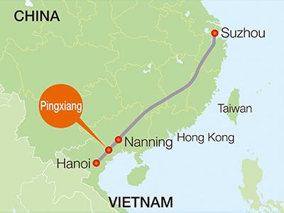 ra mắt tuyến đường sắt xuyên biên giới TQ - VN