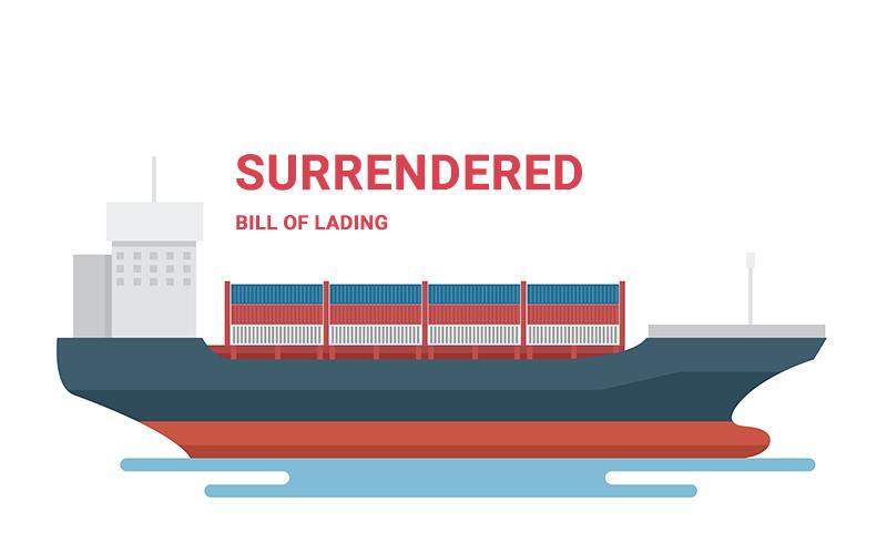 Surrendered Bill of Lading là gì? Quy trình phát hành Surrendered B/L