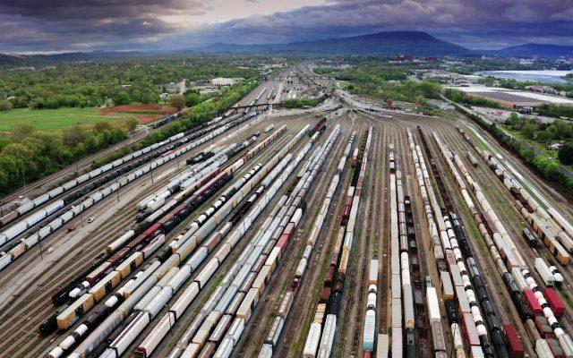 """Đoạn phim """"Trạm vận chuyển đường sắt"""" từ Drone - Logistics Footage"""