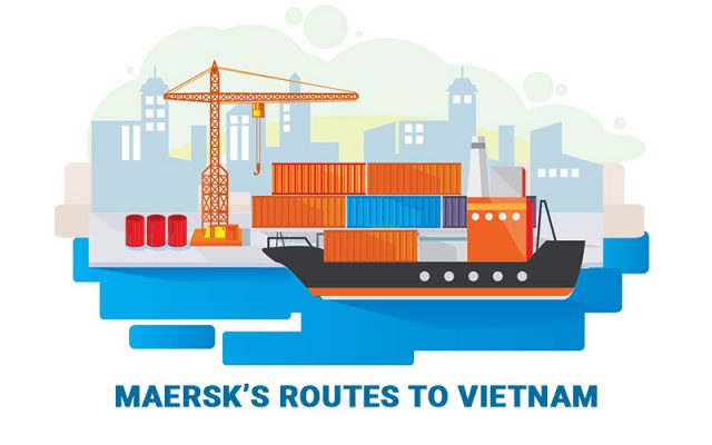 Tuyến của Maersk tại Việt Nam - Maersk's routes to Vietnam