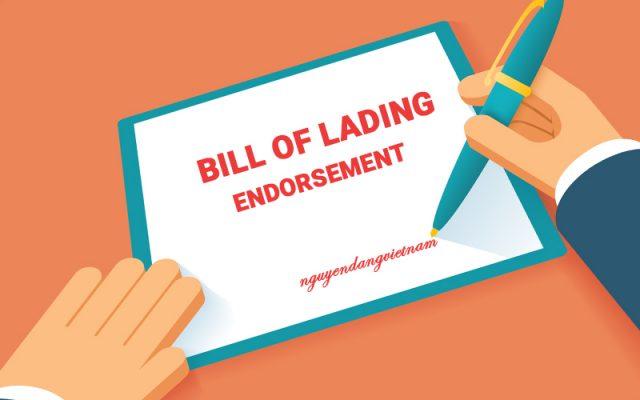 Kí hậu vận đơn (Bill of Lading Endorsement) là gì? Các loại kí hậu Bill of Lading thường thấy