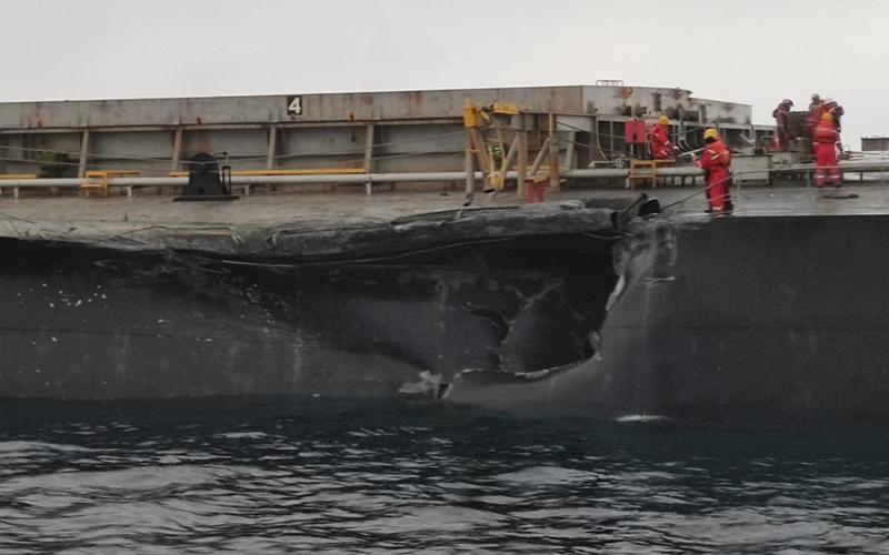 Hai tàu chở hàng va chạm ở lối vào eo biển Cannakale ở Thổ Nhĩ Kỳ